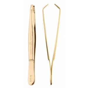 Eyebrow Tweezers, gold plated